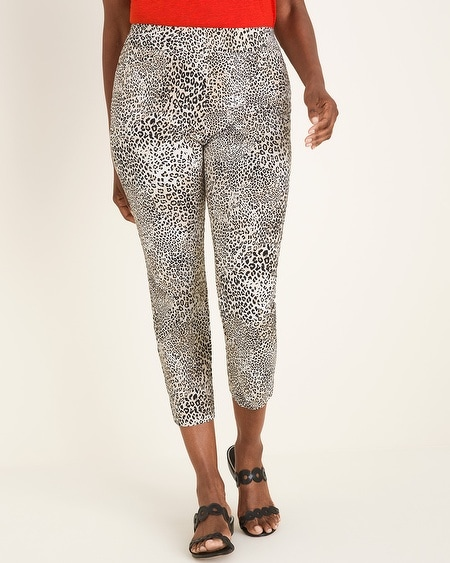 0bd7298fdfb50 Chico's. So Slimming Brigitte Leopard-Print Slim Crops