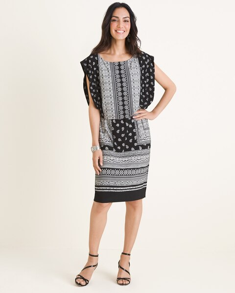a3b0c7373c5 Black and White Patterned Dress - Women s Dresses   Skirts - Women s  Clothing - Chico s