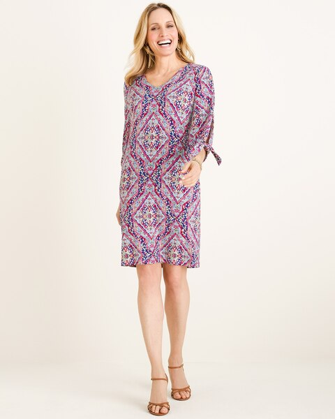 a5b9f10f79 Return to thumbnail image selection Printed Tie-Sleeve Dress video preview  image