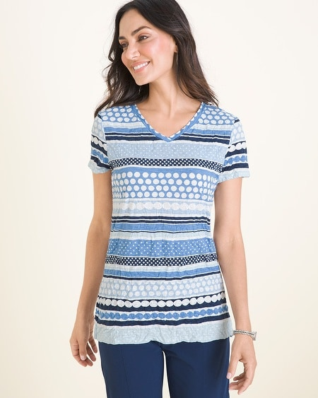 fb02919a Chico's. Zenergy Crushed Striped-Dot Top