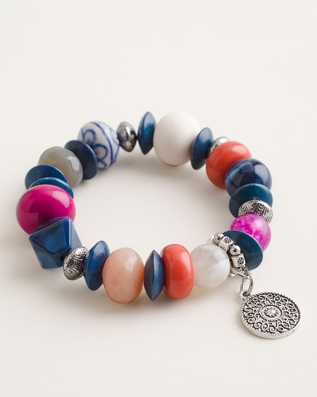 5a2591a1df916 Beaded Multi-Colored Stretch Bracelet