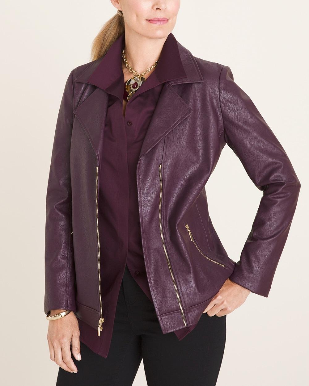 rock-bottom price find workmanship shop best sellers Faux-Leather Moto Jacket