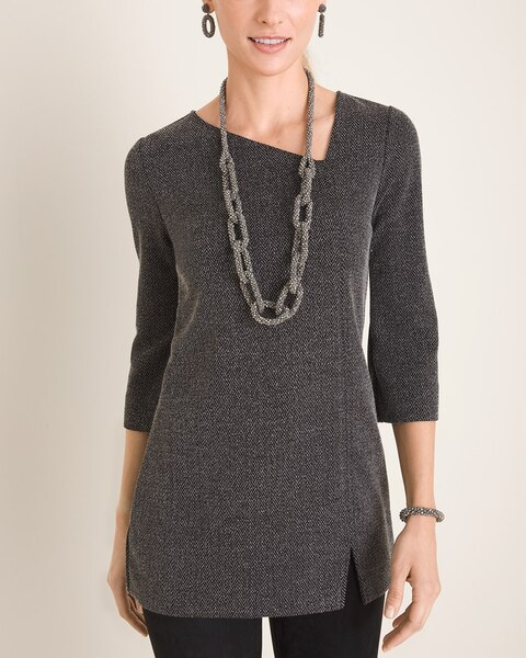 Textured Asymmetrical Tunic by Chico's