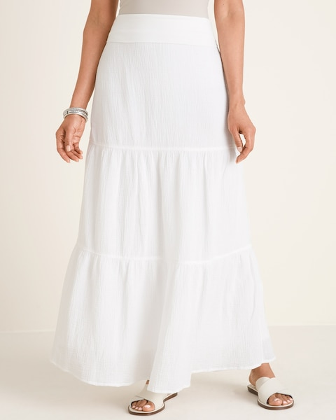 Tiered Gauze Maxi Skirt