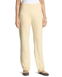 Zenergy Cotton Cashmere Pants in Seawhip Yellow