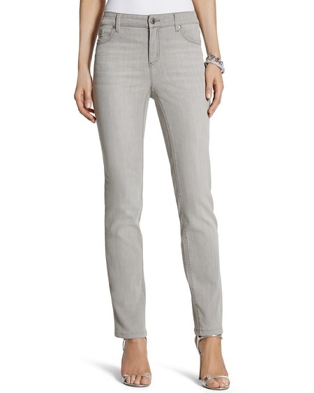 So Lifting Slim Leg Jeans in Silver Rain