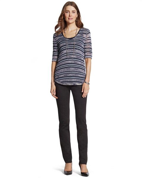 Peyton Pants in Charcoal Heather - Chicos