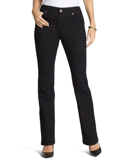 By Chico's Black Bootcut Jean Regular Length