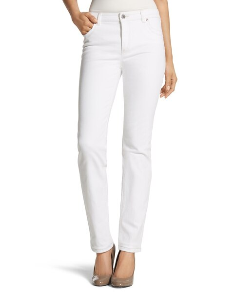 So Lifting Slim-Leg Jeans in Optic White - Chicos