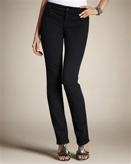 So Slimming By Chico's Black Slim-Leg Jean OLD