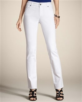 Platinum Denim Slim-Leg Jean