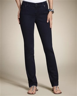 So Slimming By Chico's Rinsed Indigo Slim-Leg Jean