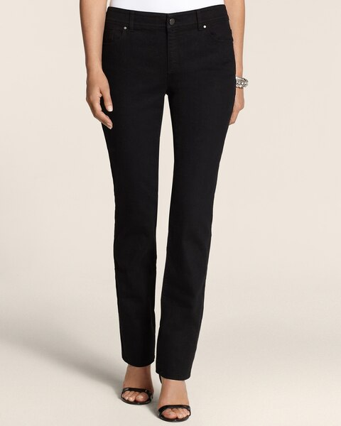 Platinum Denim Slim-Leg Jeans in Black