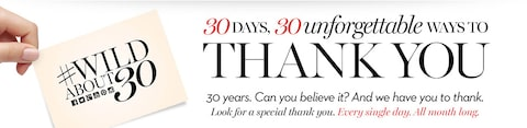 30 Days, 30 unforgettable ways to thanks you