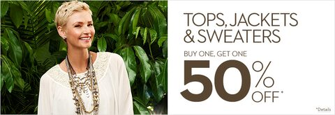 Tops, Jackets, Sweaters Buy One Get One 50% Off