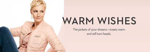 Warm Wishes | The jackets of your dreams - toasty warm and still turn heads.