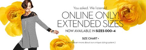 You Asked We Listened : Online Only! Extended Sizes | Now Available in sizes 000 -4 | Size Chart> | Click to learn more about our unique sizing system