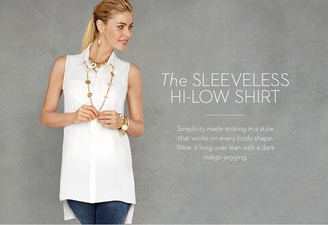 The SLEEVELESS HI-LOW SHIRT