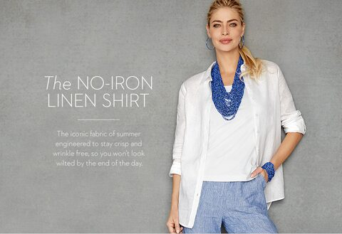 The NO-IRON LINEN SHIRT