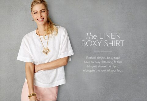 The LINEN BOXY SHIRT