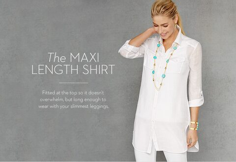 The MAXI LENGTH SHIRT