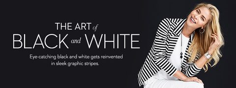 the art of black and white Eye-catching black and white gets reinvented in sleek graphic stripes.