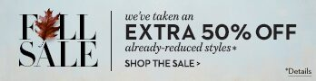 Fall Sale | we've taken an ex