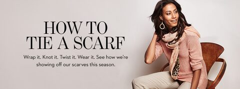 Wrap it. Knot it. Twist it. Wear it. See how we're showing off our scarves this season.