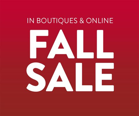 In Boutiques and Online - Fall Sale